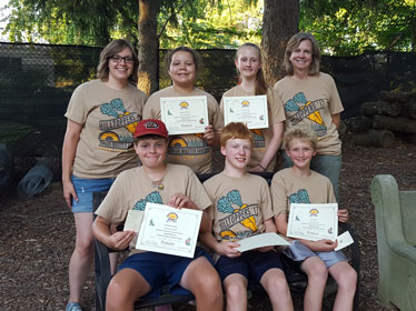Seven Junior Master Gardeners with awards